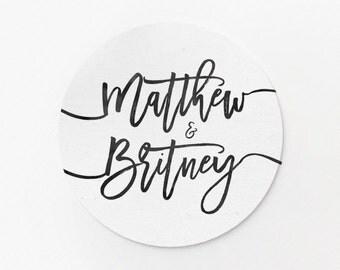 Custom Stickers - Wedding Stickers - Wedding Names - Wedding Favors - Custom Logo Stickers - Adhesive Labels