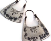 Sterling Silver Earrings - Hippie Earrings - Silver Boho Earrings - Large Size