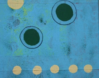 Turquoise and Yellow Circles