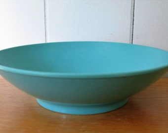 vintage melmac serving bowl aqua