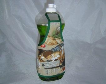 Cute Puppy Horse Cat Farm Decor Dish Soap Apron Bottle Cover Wrap Staffer Party Favor Lg