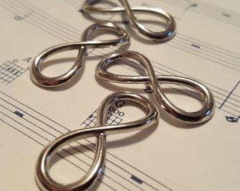 Infinity Charm - 20 pcs. - Infinity Symbol - Silver Infinity - Infinity Findings - Figure 8 Charm - Infinity Bracelet Charm - Infinity