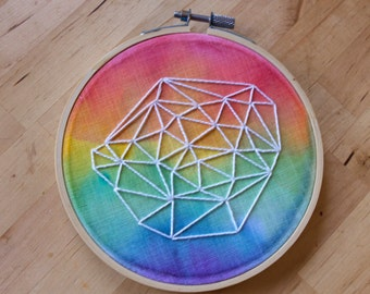 "5.5"" Hoop Art, Watercolor Embroidery 007"