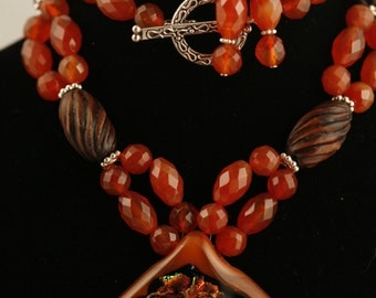 Rustic Necklace and earring set No. 586