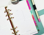 Personal Size Undated Day on One Page Tracking spread for Personal or Compact Filofax, Medium Kikki K, planner inserts - minimalist design