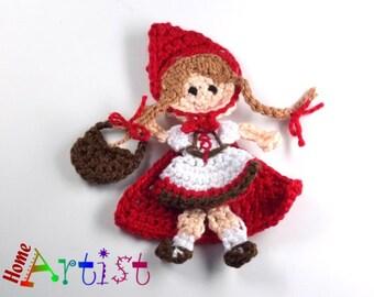 Little Red Riding Hood Crochet Applique