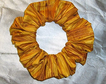 Wood Grain Hair Scrunchie,Ponytail Holder, Fabric Hair Tie