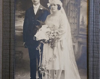 1920s wedding vintage photo