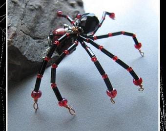 Not So Eensy Weensy Red Black  Spider from Cornerstoregoddess EHAG