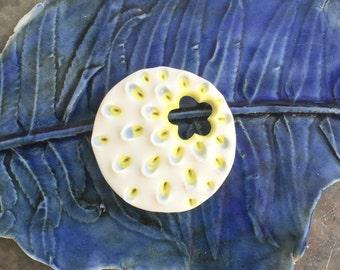 Pale petals ceramic pendant -sale