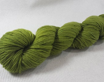 SALE 20% Off Yarn Hollow Tor DK Merino Superwash Hand Dyed Yarn Lime Rickie Semi Soid DK Weight 3.4 ounces 238 yards
