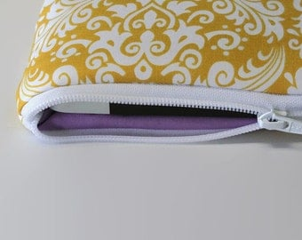 "Women's MacBook Air Case 11.6"" Toshiba Kirabook Cover 12"" MacBook Pro Sleeve 13"" 15.4"" Chromebook Laptop Sleeve - Yellow Damask"