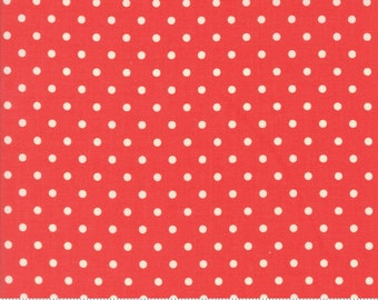 Chestnut Street - Polka Dot in Pomegranate Red: sku 20276-11 cotton quilting fabric by Fig Tree and Co. for Moda Fabrics - 1 yard