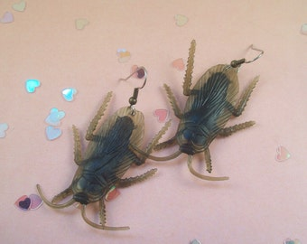 Cockroach Earrings