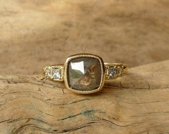 Rose Cut Cushion & Oval Diamond Rings - Deposit