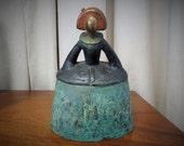 Vintage Mid Century Modern MCM Style Brutalist Sculpture of a Lady
