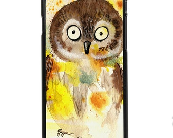 """Phone Case """"Owl"""" - Watercolor Art Giclee Print Cute Baby Owl Nursery Gift Idea Colorful Painting By Olga Cuttell"""