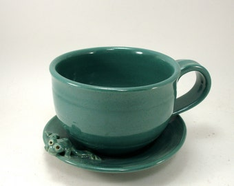 frog cup and saucer