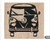 rubber stamp hippy  Bus 1 1/4 x 1 number 10245 stamps stamping car van german