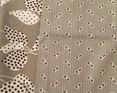 SALE Denyse Schmidt Flea Market Fancy Legacy Collection Grey Leaf Dot and eyelet cotton fat quarter bundle from shereesalchemy