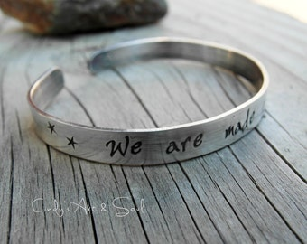 Personalized Cuff Bracelet 925 Sterling Silver Stamped