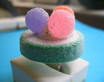 Sour Apple Sugary Frosted Gumdrop Ring