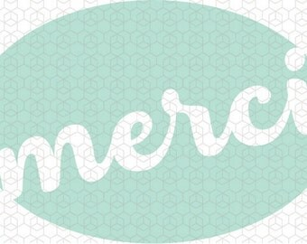 Merci, French Thank You SVG Project Design