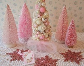 PINK Bottle Brush Tree - Vintage Shabby style!  OOAK
