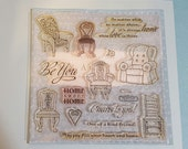 DESTASH  Chairs to you •my acrylix stamps• Close to my heart D1456