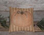1 Primitive Rustic Halloween Pumpkin Fall Harvest Bowl Filler Ornie Ornament Mini Pillow Tuck Shelf Sitter