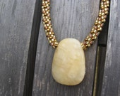 Golden Dreams Kumihimo Necklace