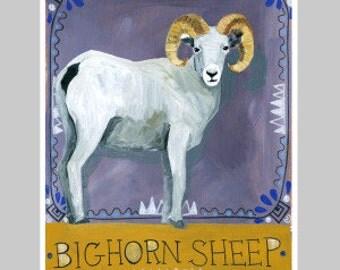 Animal Totem Print - Bighorn Sheep