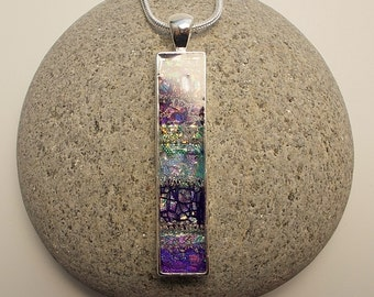 Long Mixed Purples Pendant Necklace
