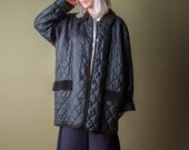 tropic of cancer quilted jacket / vintage silk jacket / minimalist jacket / s / m / 443o