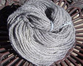 Silver Shetland Handspun Heavy Worsted Weight Yarn 150 Yds