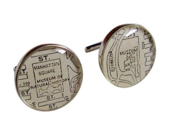 New York Museum of Natural History & Art  Cufflinks Sterling Silver Destination: New York Free Shipping