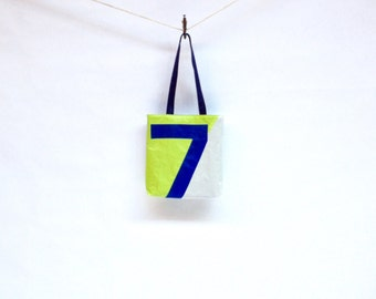 Recycled Sail Cloth Bag  - Blue Number 7