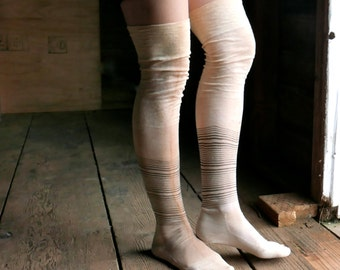 Antique Striped Stockings