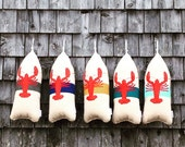 Maine Lobster Buoy Pillow. gifts under 50. gift for him.maine lobster pillow. Buoy pillow. Nautical wedding gift. Lobster pillow.