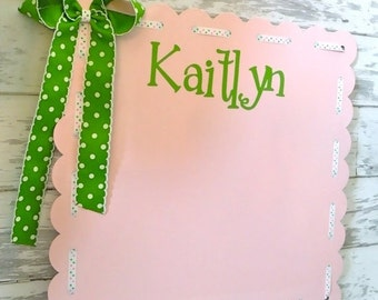 ON SALE large personalized decorative magnetic board in light pink