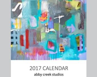 2017 Abstract Art Calendar - 5 x 7 or 8 x 10 Wall or Desk Calendar