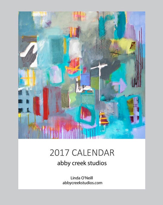 Calendar Abstract Art : Items similar to abstract art calendar or