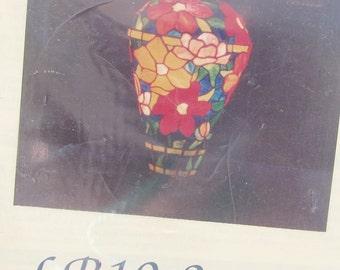 Stained Glass Pattern Bradley Lamp Base LB 10-5 Iris for Full