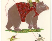 Unbearably charming.  Limited edition print  by Vivienne Strauss.