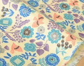 Japanese Fabric brushed cotton double gauze floral - A - 50cm