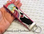 Fabric Wristlet Key Chain - Wristlet Key Fob - Handmade Wristlet - Handmade Key Fob - Paisley Key Chain - Wristlet Lanyard - Wrist Key Chain