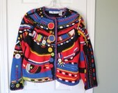 vintage LADIES 1 size fits all CARDIGAN sweater