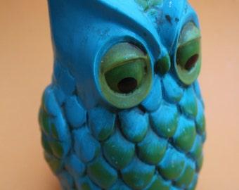 Vintage ceramic OWL coin bank