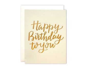 Golden Birthday Foil Card
