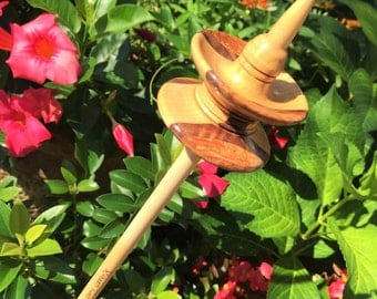 Black Fri Sale 20% off 150 yr old Dogwood,Maple and Walnut, Signature Series Top Whorl Drop Spindle, Made by Heavenly Handspinning